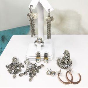 Premier Designs Jewelry Lot of 7/6 Earrings 1 Ring